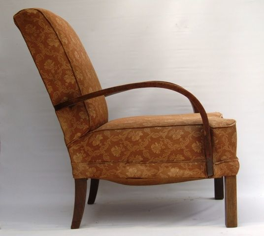 1930s Bent Arm Chair Side In 2020 Club Armchair Vintage Chairs