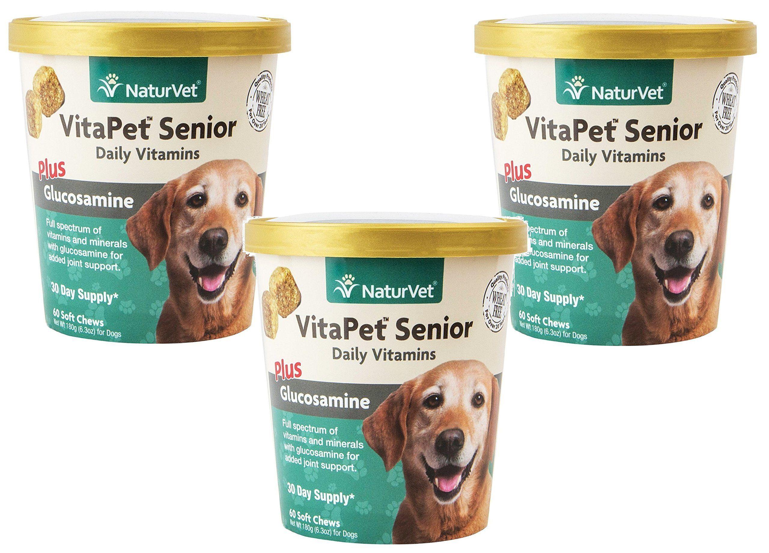 180 Count Naturvet Vitapet Senior Daily Vitamins Plus Glucosamine