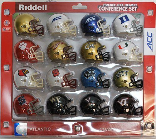 ACC Conference 2014 Pocket Pro Mini Football Helmet Set New Teams Included