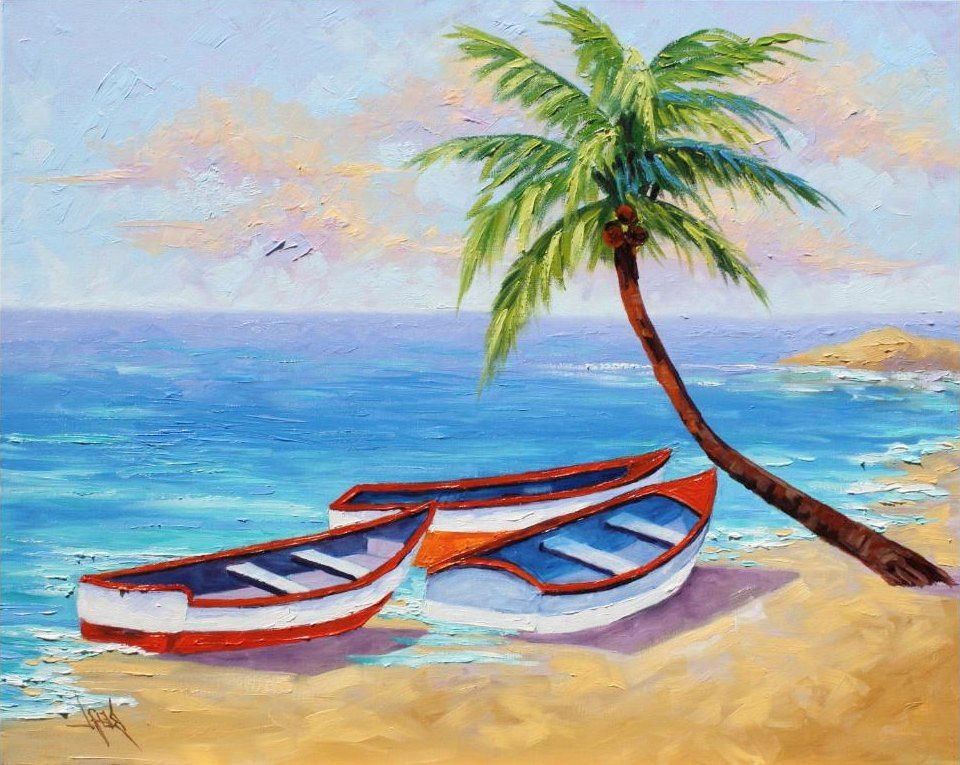 Contoh Lukisan Pemandangan Yang Mudah Ditiru Pemandangan