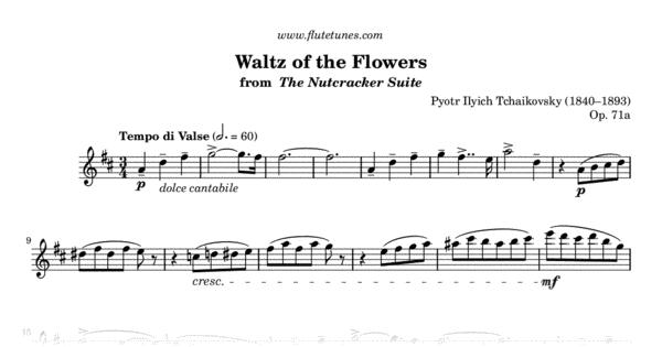 Sheet Music For Waltz Of The Flowers Valse Des Fleurs From