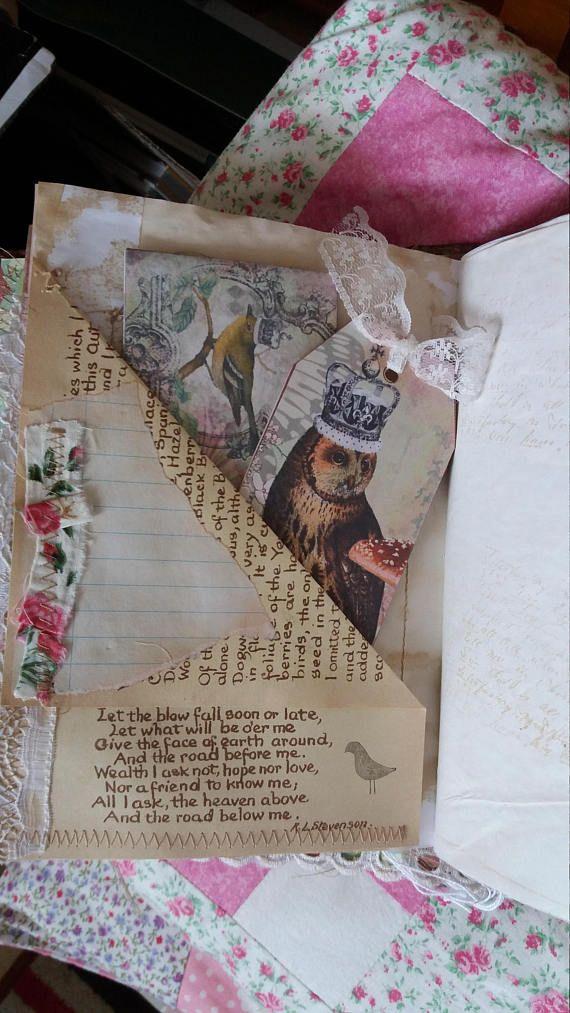 Handmade journalvintage style.