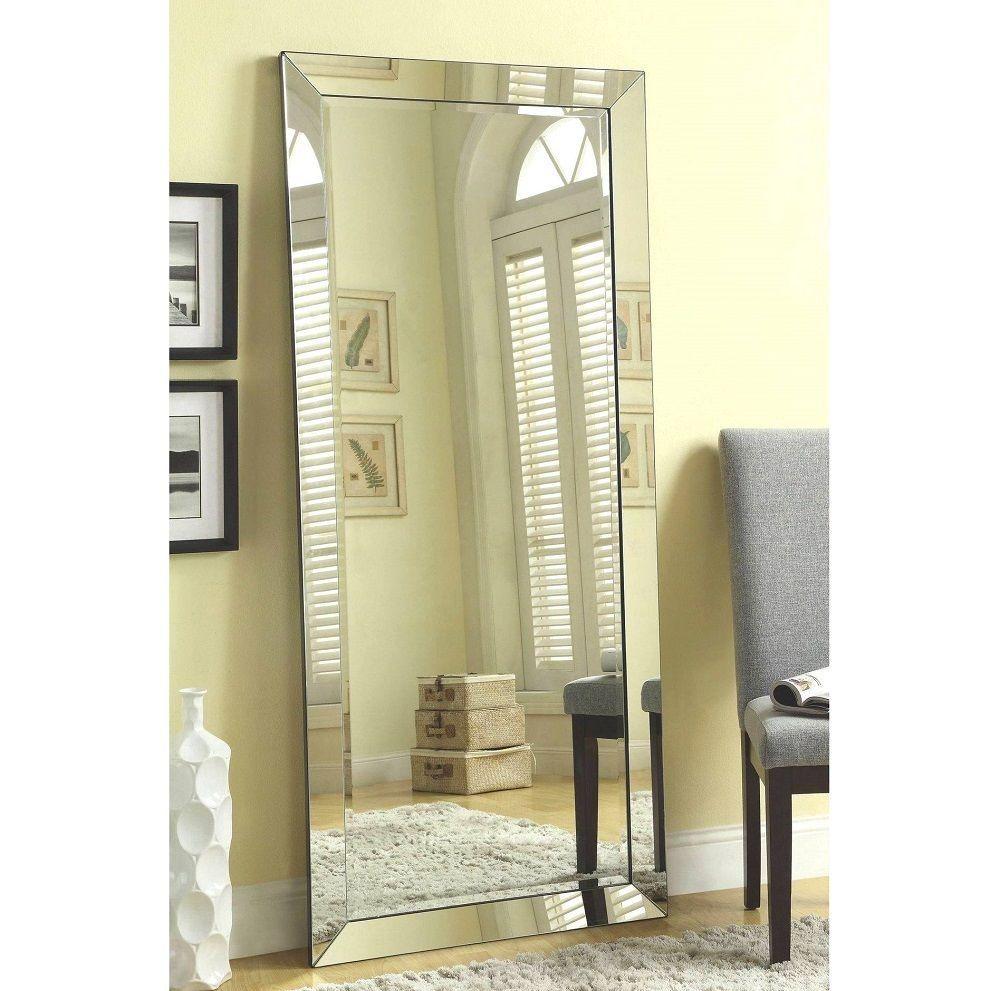 Decorative Wall Mirrors Large Frameless Full Length Beveled Mirror