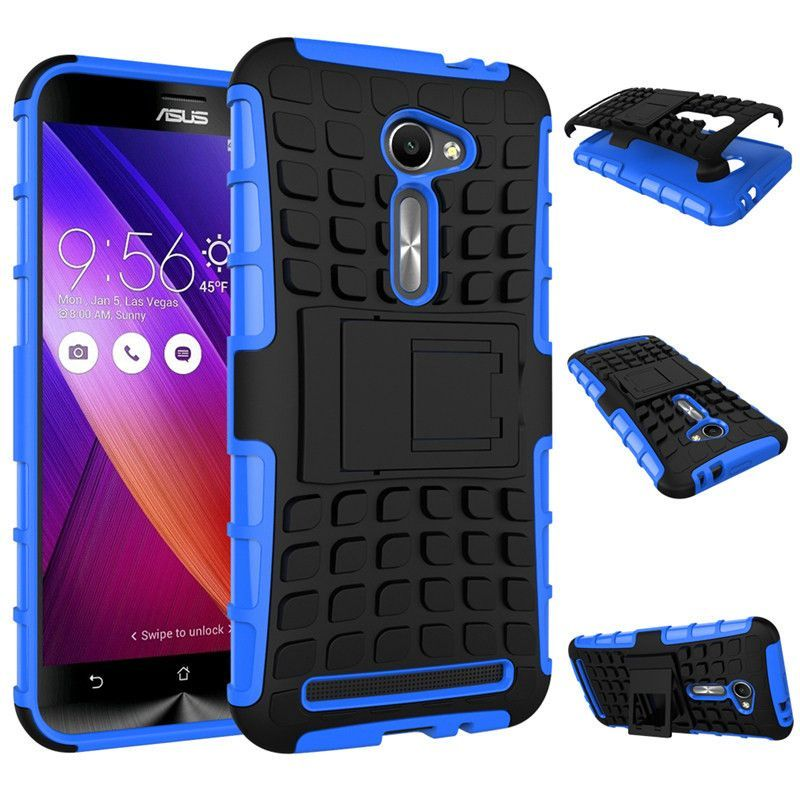 Deluxe Anti-skid Soft TPU + Hard PC Phone Case For ASUS ZenFone 2 Cool Slim Kicktand Protective Back Cover For ASUS 2 5.0 Inch