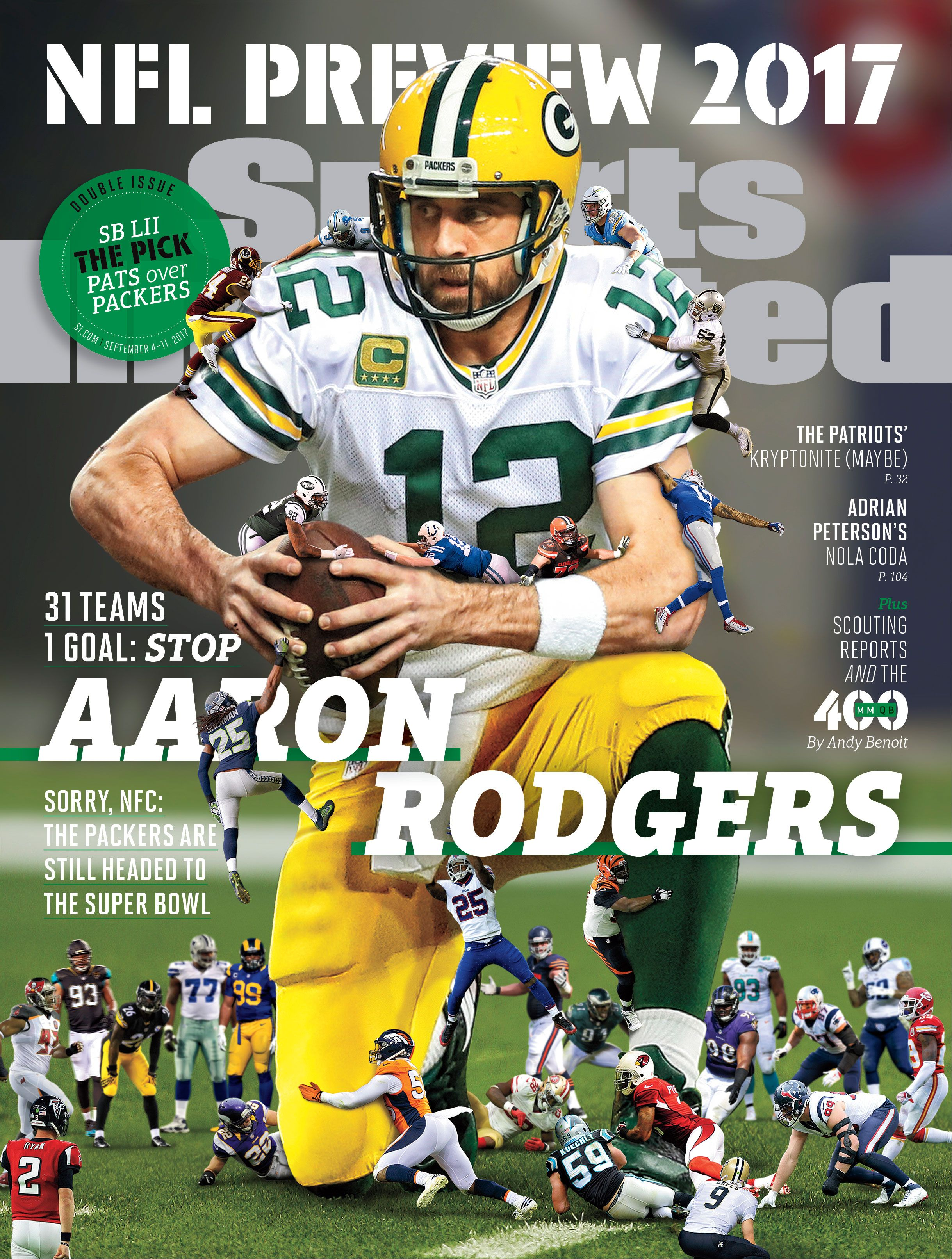 Sports Illustrated 2017 Nfl Preview Covers Sports Illustrated Covers Aaron Rodgers Green Bay Packers Football