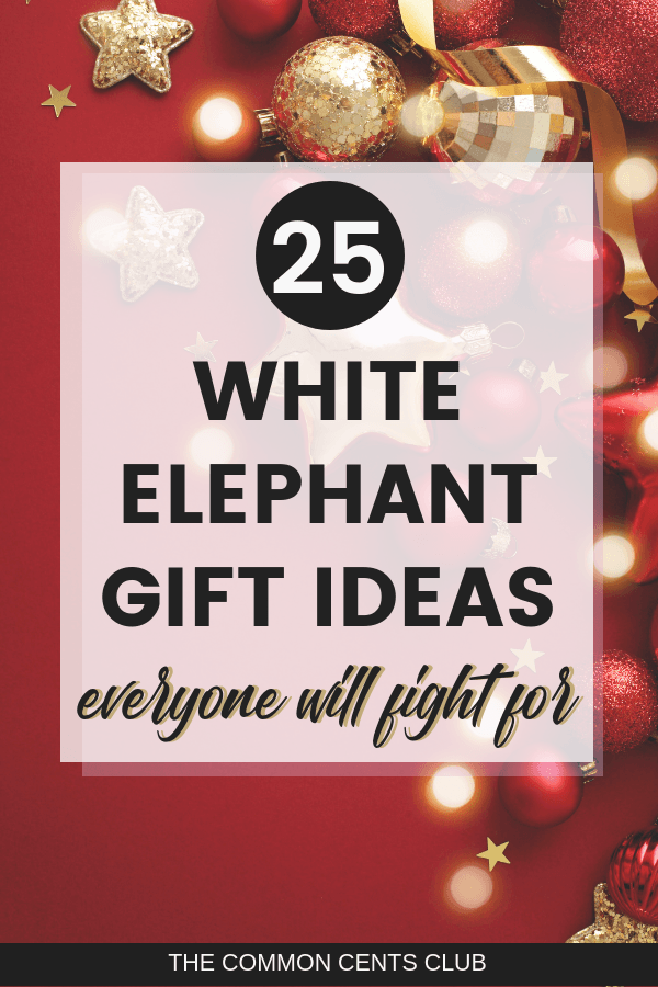 25 Useful White Elephant Gift Ideas Everyone Will Fight For | The Common Cents Club -   19 white elephant gift for work ideas