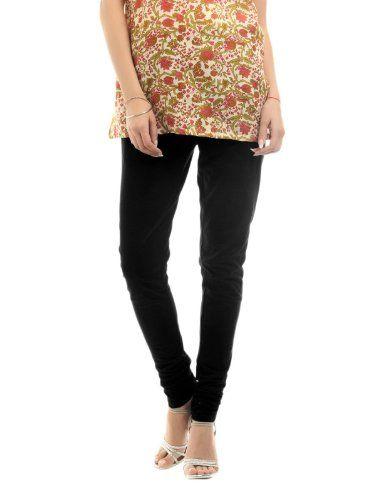 Women Elastic Waist Cotton Lycra Churidar Legging (Black) Xl - http://www.desitoga.com/churidar/women-elastic-waist-cotton-lycra-churidar-legging-black-xl/