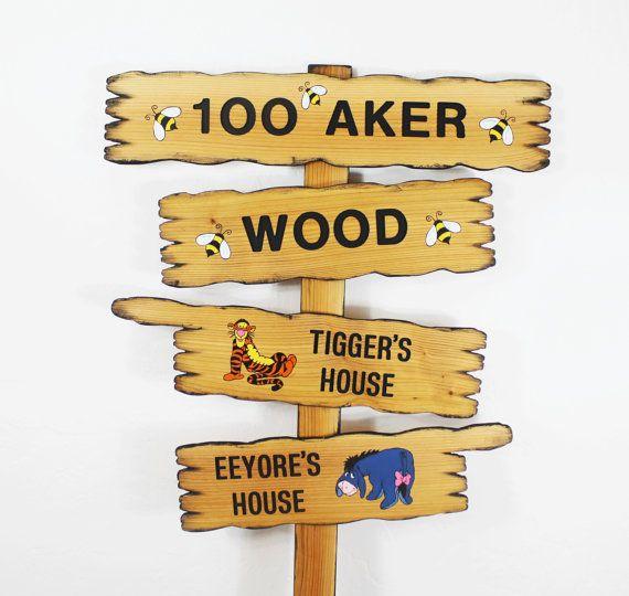 Hundred Acre Wood Winnie The Pooh Disney Themed By Thecommonsign 129 00 Winnie The Pooh Themes Disney Themed Classroom Disney Classroom