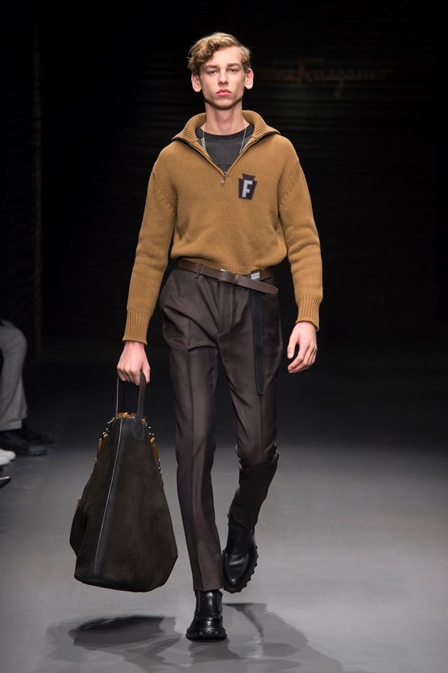 #FerragamoFW17: Lush cashmere knits, contemporary tailoring and an easy urban flair for Guillaume Meilland's debut menswear collection.