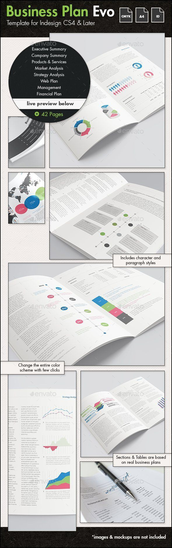 Business Plan Evolved - A4 Portrait Template