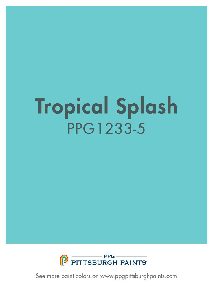Tropical Splash - Paint Color from PPG Pittsburgh Paints
