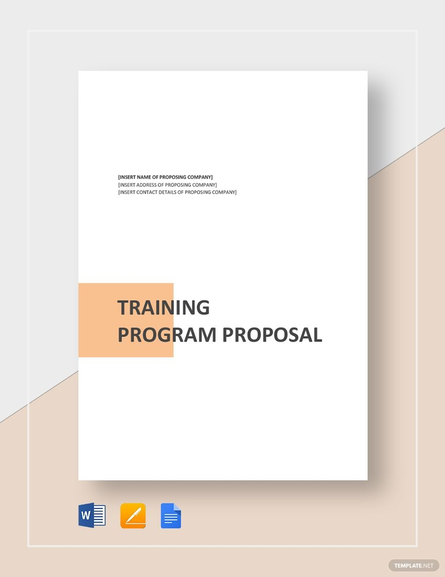 training project proposal template free pdf  google