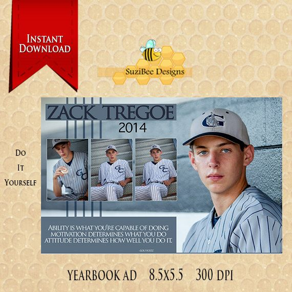 yearbook ad template 1 2 page high school seniors middle senior