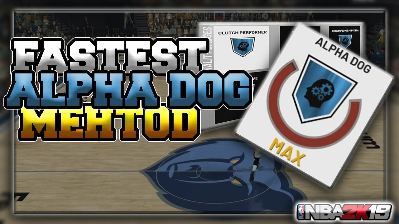 NBA 2K19   HOW TO GET THE ALPHA DOG BADGE!! (100% Quick and