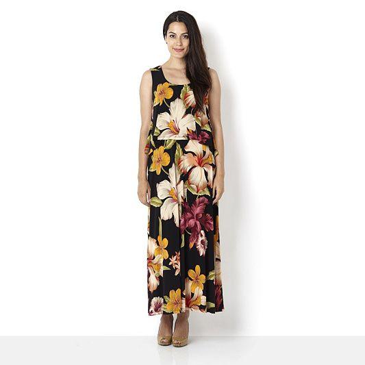 Ronni Nicole O So Slim Floral Maxi Dress Order Online At Qvcuk
