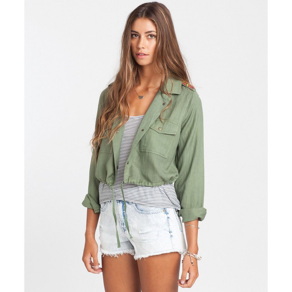 be5261a20e947 Billabong Moonlit Nights Cropped Jacket   Seagrass   Sale   Stylish ...