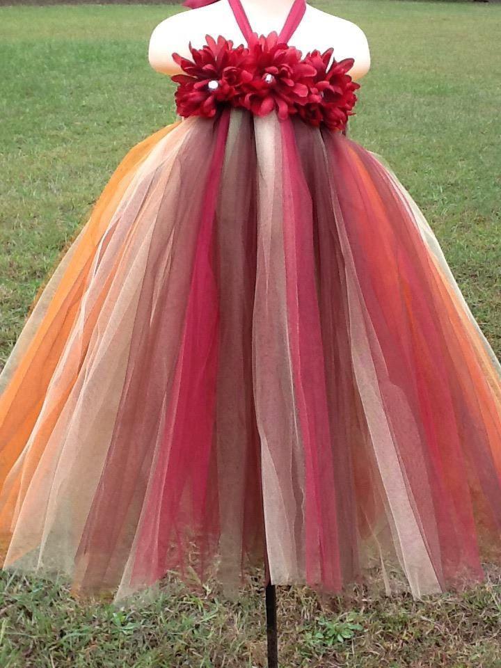 Fall Harvest Flower Girl Tutu Dress, Fall Colored tutu......this ...