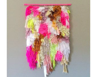 Woven wall hanging Handwoven Tapestry Weaving Fiber by jujujust