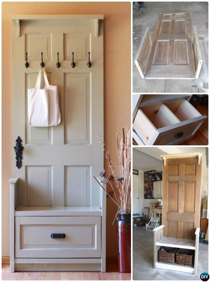 16 Unexpected Ways To Re Purpose Old Doors Into New Furniture New