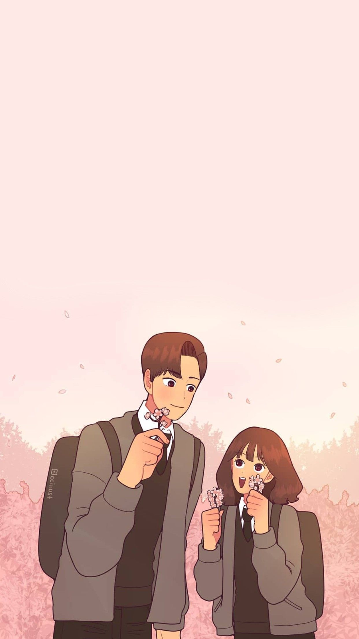 Cartoon Couple Couple Cartoon Ig Korean Wallpaper Lucu Ilustrasi Karakter Seni Animasi