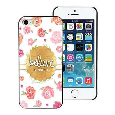 Believe Design Aluminum Hard Case for iPhone 5C - USD $ 1.39