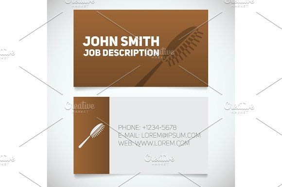 Business card print template with hairbrush logo graphics business business card print template with hairbrush logo graphics business card print template with hairbrush logo flashek Choice Image