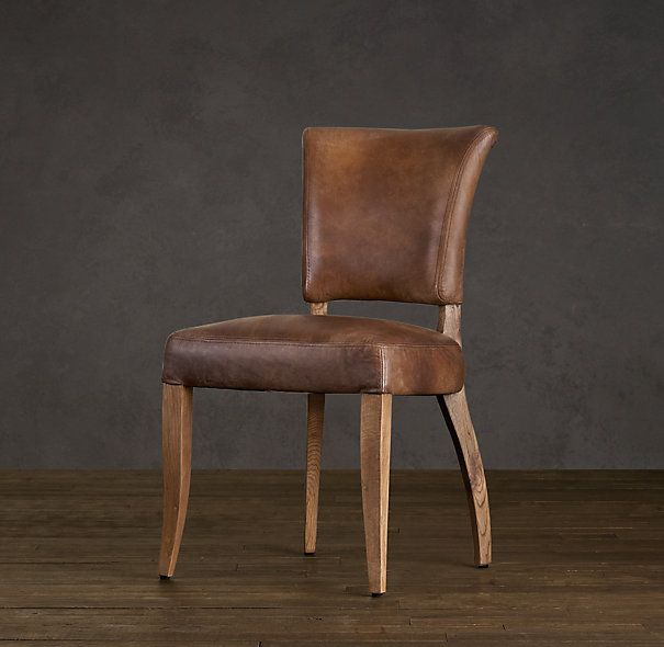 Adele Leather Side Chair Leather Dining Room Chairs Restoration