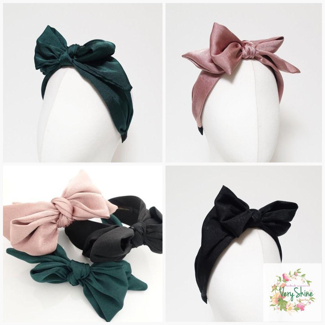 Oversized Satin Bow Alice Hair Band Headband Bridal Wedding Flower Girl Gift