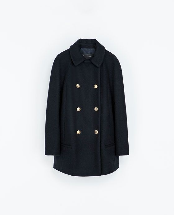 ZARA - WOMAN - DOUBLE BREASTED WOOLLEN CLOTH COAT  de677f01797e7