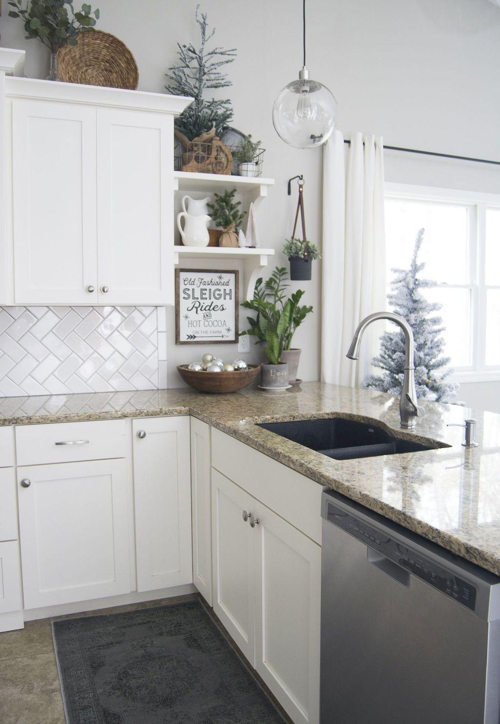 100 modern christmas tree for farmhouse decorating ideas christmas kitchen decor diy kitchen on farmhouse kitchen xmas id=92578