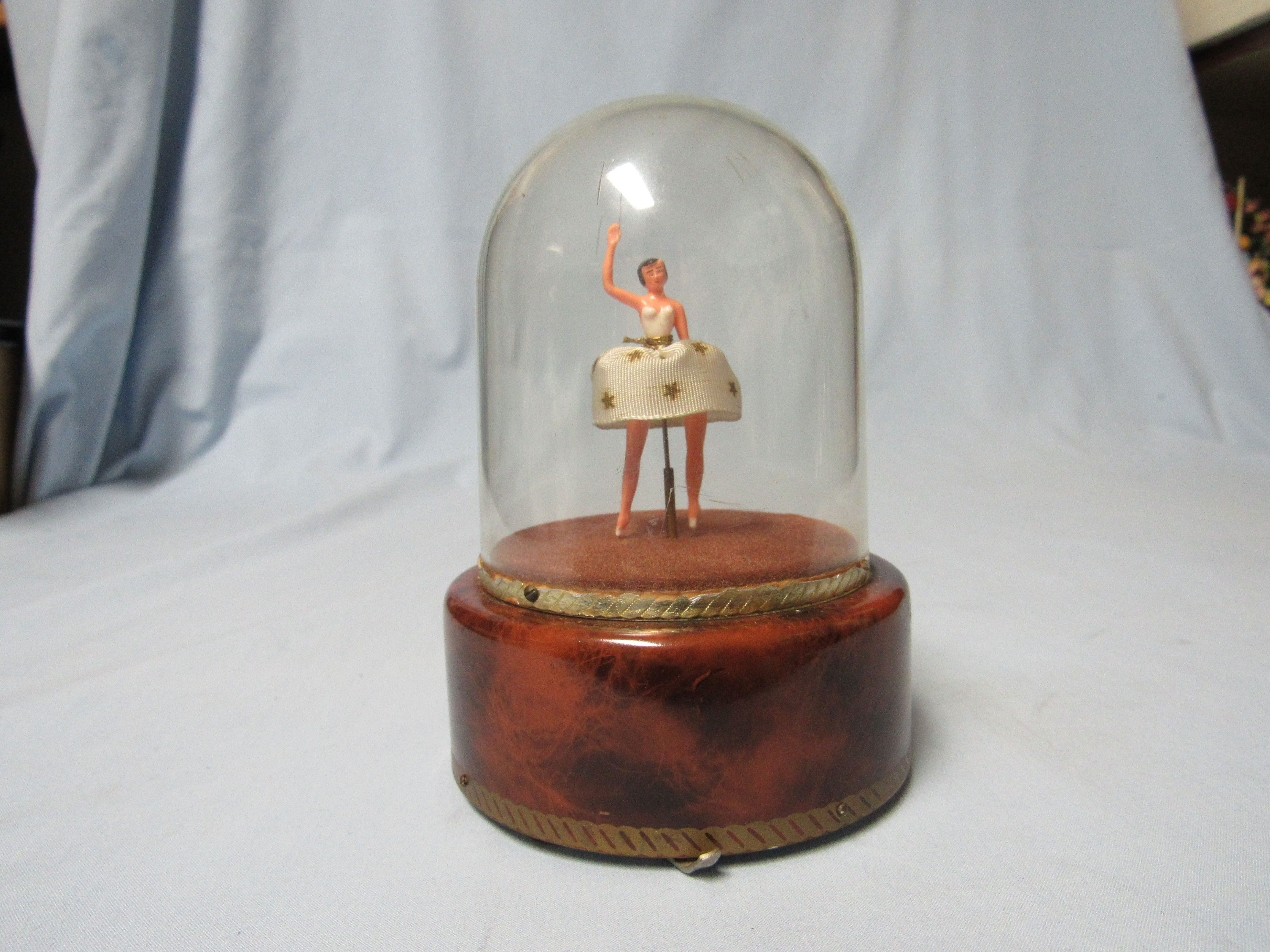 This Is A Lovely Vintage 1950s Dancing Ballerina Music Box By The