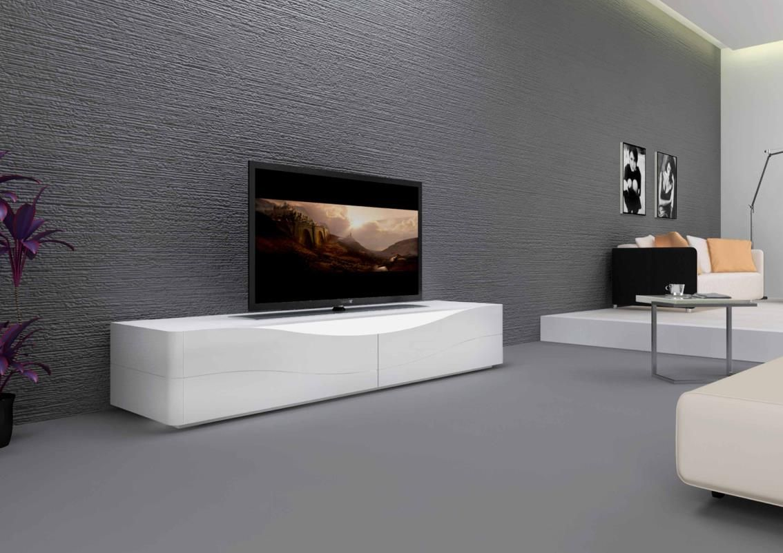 Magnifique Meuble Tv Blanc Bas D Coration Fran Aise Pinterest  # Long Meuble Tv Bas Noir