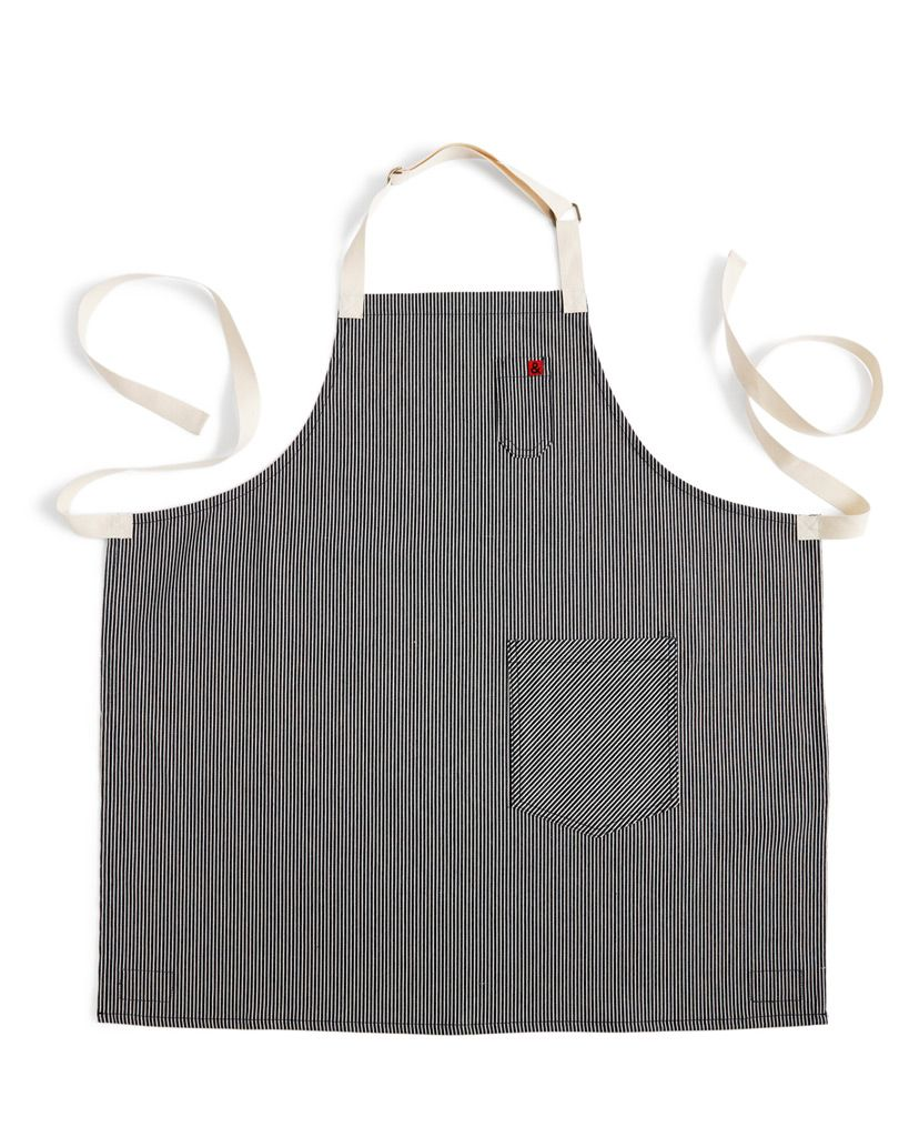 White denim apron - Denim Apron Hickory
