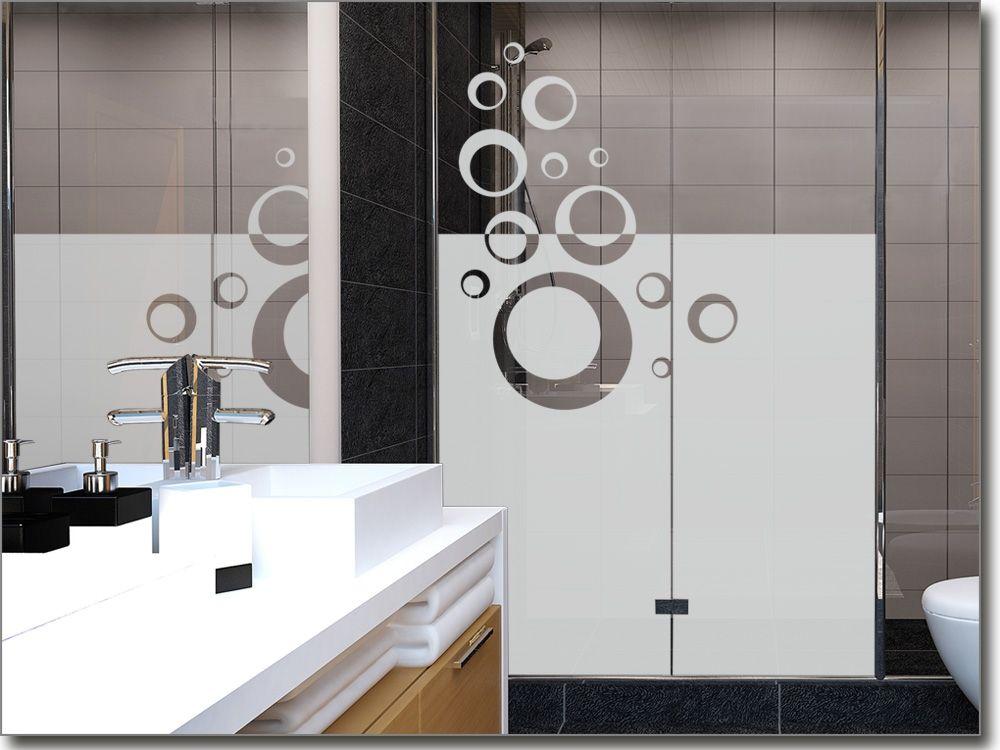 Milchglasfolie Badezimmer ~ Glasdekorfolie fürs badezimmer kreise sichtschutzfolie für