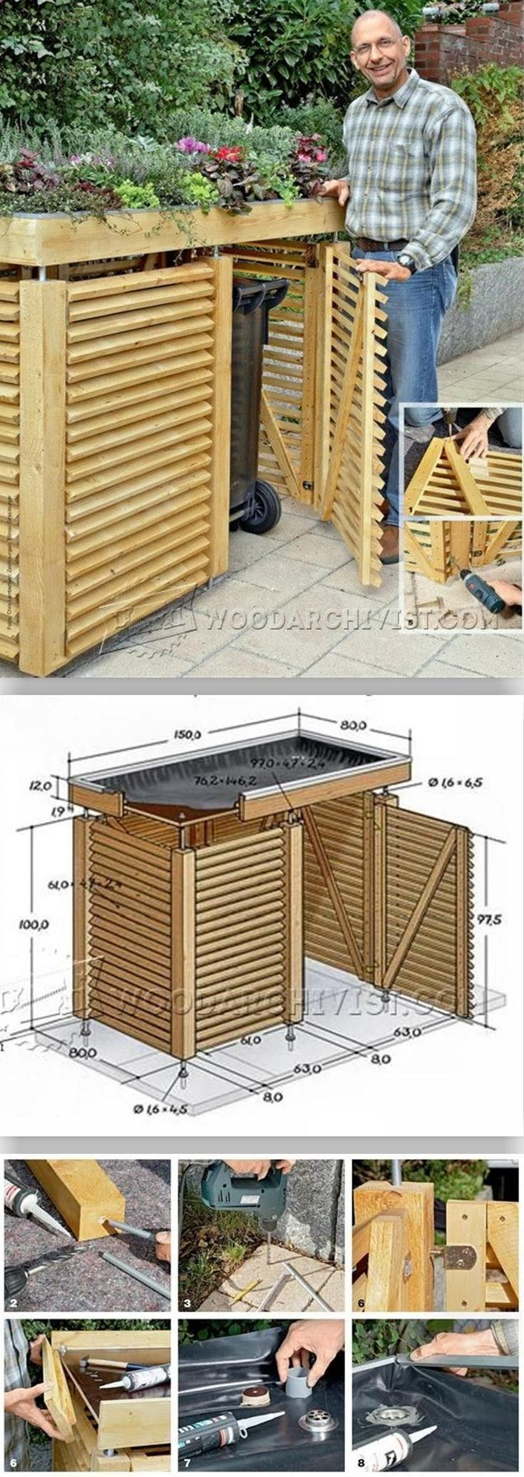 Photo of Nice idea in adding the planter on top #Woodworking