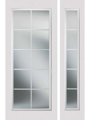 Fibergl Single French Door on