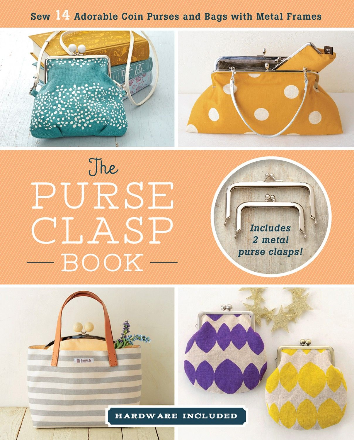 Purse Clasp Book - Softcover  ZW2347 Are you curious about using metal  purse frames to create cute b609aadbc1539
