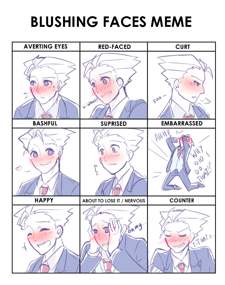 I Really Wanted To Do This For A Long Time Now Anyways Blushy Blushy Drawing Expressions Drawing Face Expressions Blushing Face
