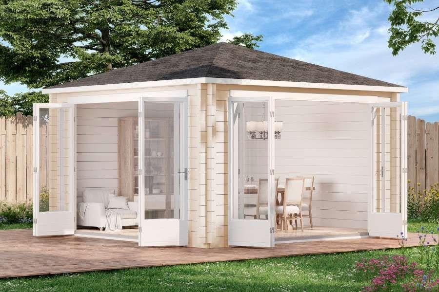 Gartenhaus Sunshine Iso Mit Grosser Falttur Gartenhaus Kaufen Gartenhaus Gartenhaus Modern