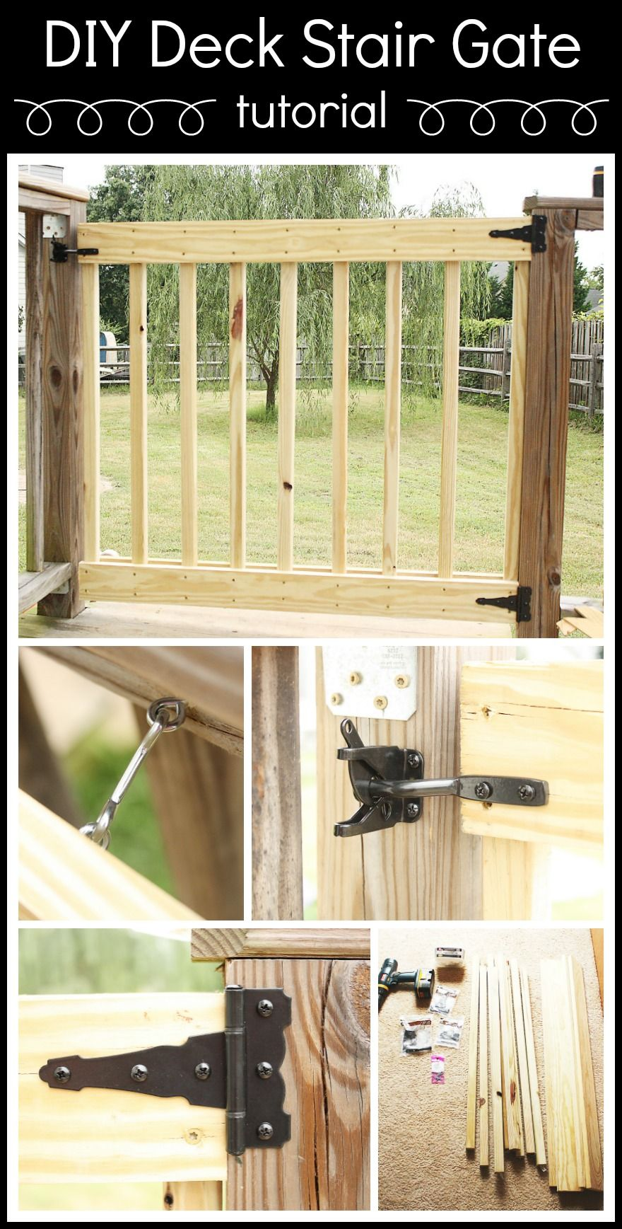 How To Build Your Own Deck Stair Gate Diy Deck Stair Gate