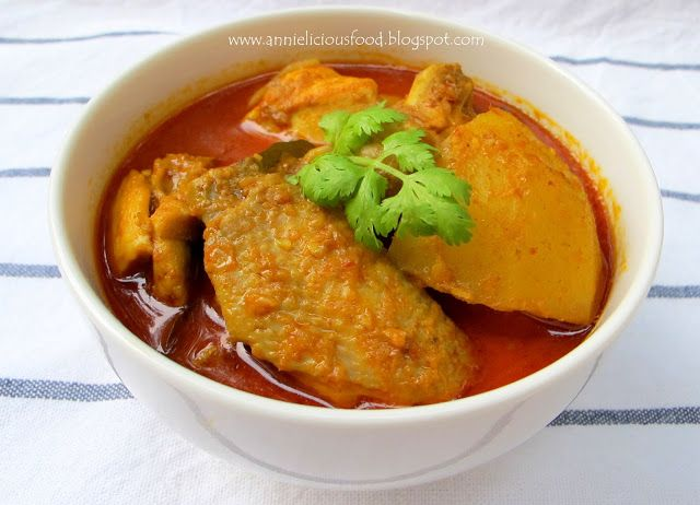 Annielicious food curry chicken ayam pinterest curry curry chicken its another common food in singapore malaysia and other places in asia this bowl of curry chicken is ordinary but yet forumfinder Images