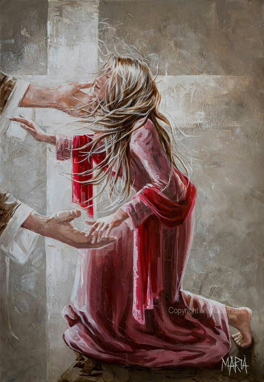 My child, fear nothing, for I am with you always! | Jesus painting, Prophetic art, Jesus art