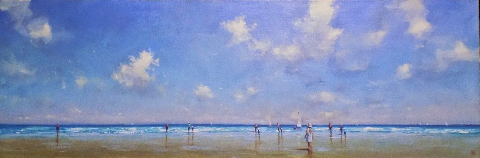 Long Beach I Ve Called The Painting This Simply Because It Is A Mainly Skyscape With Figure