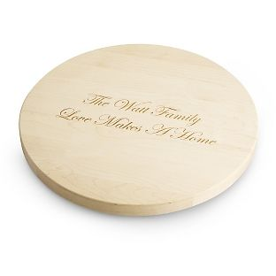 """Personalized 18"""" Lazy Susan Maple Cutting Board , Add Your Message From Things remembered Made in the USA"""