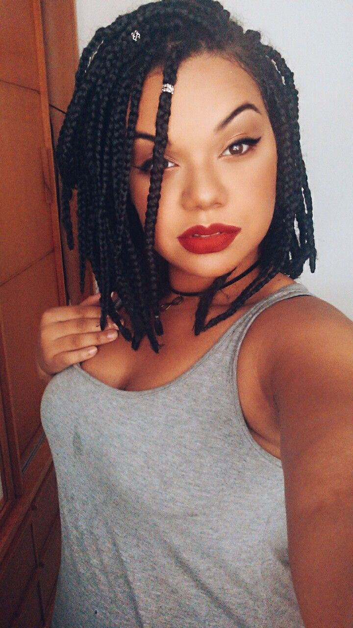 short box braids | transição | pinterest | short box braids, box