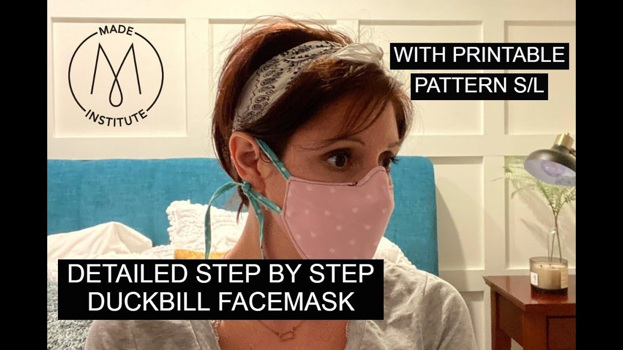 Duckbill Facemask With Ear Ties Filter Pocket And Nose Wire