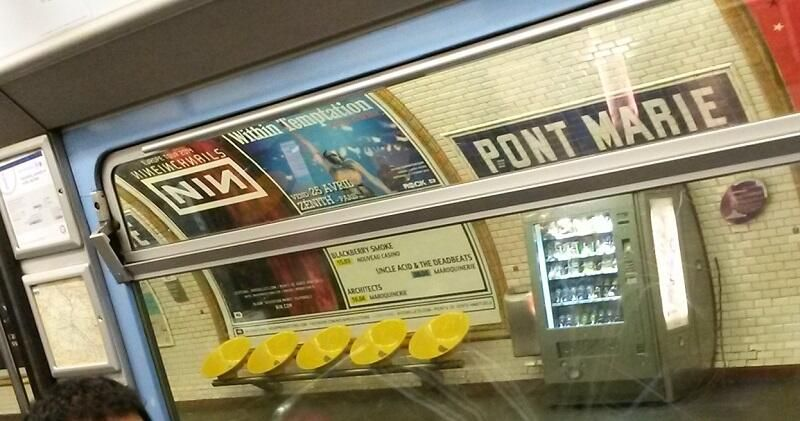 @Within Temptation Saw in the subway this winter \m/ you're famous in Paris !
