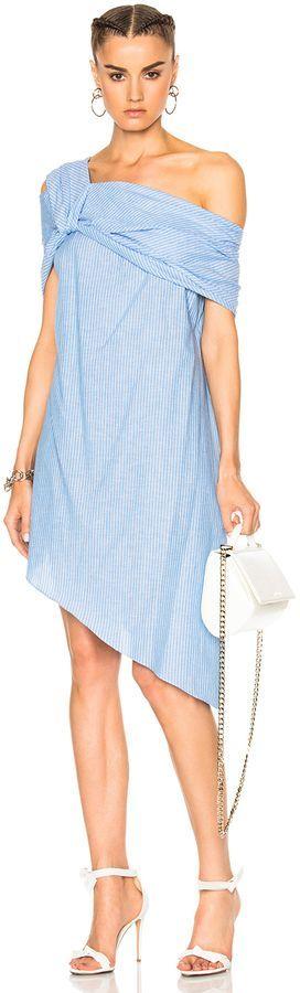 Baja East Cotton Stripe Dress