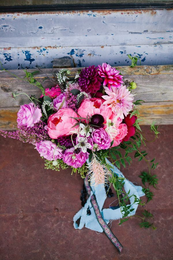 Rustic Berry Hued Bridal Bouquet