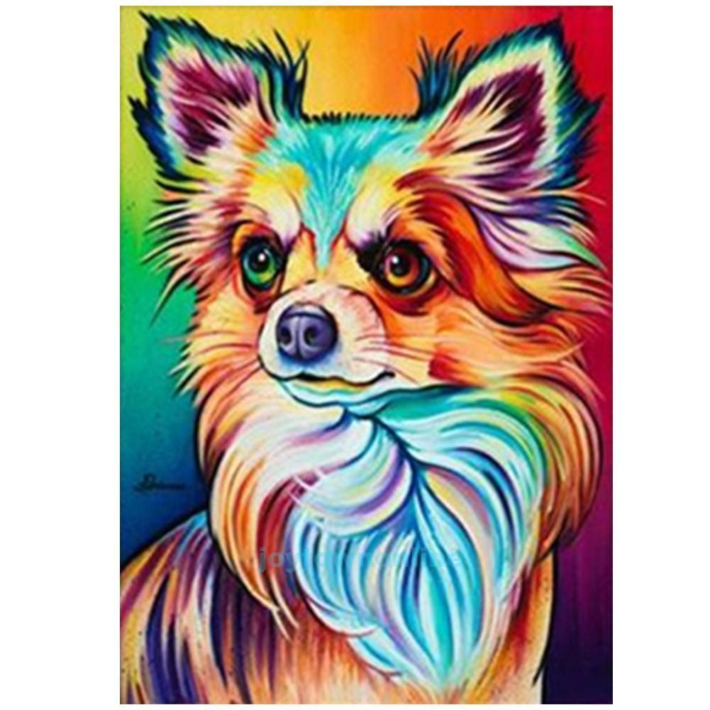 Dog DIY 5D Diamond Embroidery Painting Cross Stitch Kit Craft Home Decor Animal